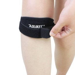 Wholesale Security Fitness - Wholesale- Knee Band Adjustable Patella Pads Support Women of Fitness Sport Men Running Basketball Patella Security 456
