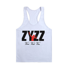 Wholesale Tshirt Muscle Print - Wholesale- Wholesale Men Stringer Bodybuilding Tank Tops Clothing Singlets Sleeveless Underwear Muscle Vest Jersey Casual Wear TShirt Men