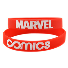 Wholesale Silicon Bracelets Printing - Wholesale Shipping 100PCS Lot Printed MCS Marvel Silicon Bracelet, Perfect To Use In Any Benefits Gift For Gamer
