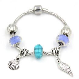 Braccialetti di marca della porcellana online-I braccialetti europei di marca di FIT di stile dell'oceano dei monili delle donne di marca di DIY all'ingrosso nuovi adattano il trasporto libero