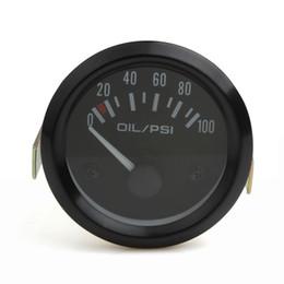 Wholesale Gauges Oil Press - 52mm Universal Auto Car Oil Pressure Gauge 2inch 0-100 Psi Car Oil Press Gauge Meter LED Oil Pressure Gauge Meter CEC_544
