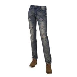 Wholesale South Korean Style Men - Wholesale- New Arrival 2015 The New South Korean Style Do Old Hole In Jeans Men's fashion Slim Fit jeans MC787 29-36