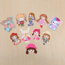 Wholesale Cartoon Motifs - 10pcs set Cartoon Iron On Embroidered Patches Sewing Iron On Applique Cloth Badge Motif