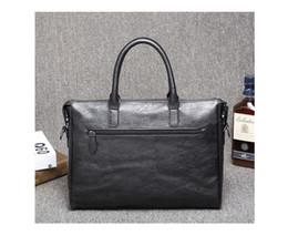 Wholesale vintage leather briefcase laptop - Briefcase Men Messenger Bag Male Commercial Vintage Men's Messenger Bag Business Travel Shoulder Laptop Bag BA 220