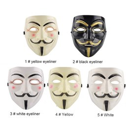 Wholesale School Accessories - Party Masks V for Vendetta Mask Anonymous Guy Fawkes Fancy Dress Adult Costume Accessory Party Cosplay Masks 0708073