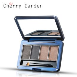 Wholesale Eyebrow Coloring - Prime & blue Brand Men Easy Coloring eyebrow cake Eyebrow powder Cosmetics for Men Eyebrow Brush Mirror Box high Quality ME040