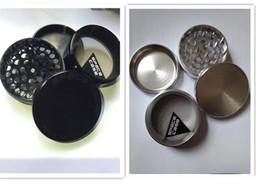 "Wholesale Large Cigarette Cases - 2.5"" Black Sliver SPACE CASE® 4pc Aluminum Herb Grinder Medium Large smoke cigarette detector grinder Tobacco grinder Titanium VS sharpstone"