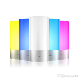 Wholesale Night Light Mobile - Original Xiaomi Yeelight Smart Night Lights Indoor Bed Bedside Lamp 16 Million RGB Lights Touch Control Bluetooth For Mobile Phone App