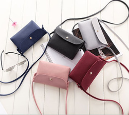 Wholesale Oblique Satchel Bags - New full leather women Fashion small bread oblique satchel mini bag purse handbag shoulder mobile phone bag