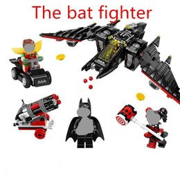 Wholesale Batwing Toy - 1068pcs 07080 Batman Series The Batwing Building Blocks Bricks Movie Model Kids Action Figure Toys Christmas gift