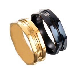 Wholesale Channel Caps - New Arrival Large Size 316 Stainless Steel 18K Gold Black Plated Screw Cap Ring For Men Wholesale