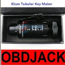Wholesale Manual Jeep - 100% Original Klom Tubular Key Maker manual Key Machine DIY tubular key duplicate