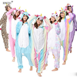Wholesale Unisex Pikachu Onesie - Animal Stitch Unicorn Panda Bear Koala Pikachu Onesie Adult Unisex Cosplay Costume Pajamas Sleepwear For Men Women