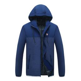 Wholesale Wind Windbreaker Jacket - Fila sports windbreaker men's coat running the new spring summer 2017 wind thin jacket hooded jacket