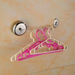 Ropa interior online-Retractable de acero inoxidable Línea de ropa individual Secadora Lavandería Cuerda Estanterías convenientes de suspensión Resistente a la corrosión lisa 13hc J R