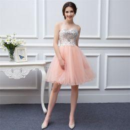 Wholesale Short Dresses For Teens - 8th Grade Formal Dresses Vestidos Para Festa De 15 Anos 2017 Cheap Prom Homecoming Dresses Short Dresses for Teens with Rhinestones