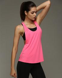 Wholesale White Vest Tops For Women - Summer Sexy Women Tank Tops Quick Dry Loose Gym Fitness Sport Sleeveless Vest Singlet for Running Training T-shirt