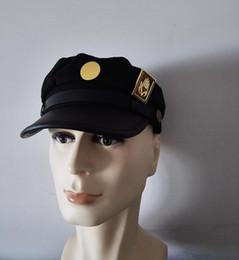 cappelli di paglia ricamati Sconti Avventura bizzarra Jotaro Kujo ver./Joseph Ver. Cosplay Hat + Pin / badge