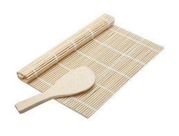 Wholesale roller mat - Kitchen Accessories Sushi tools Rolling Roller Bamboo Material Mat Maker DIY and A Rice Paddle Cooking Tools