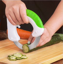 Wholesale Green Cutter Vegetable - Round Multifunction Kitchen Knife Kitchen Accessories Vegetable Chopper Slicer Round Sharp Knife Easy Cutter vegetable tools