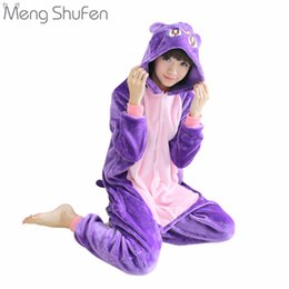 Pigiami all'ingrosso di cartone animato online-Wholesale- Anime Sailor Moon Cosplay Diana Pigiama Cartoon Animal Sleepwear Imposta Purple Cat per le donne e le ragazze Autunno Inverno caldo Homewear
