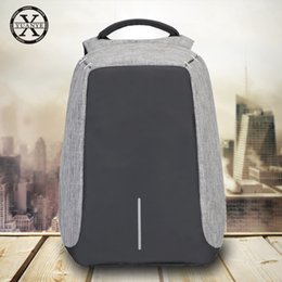 Wholesale Computer Anti Theft - Waterproof hidden pocket Anti Theft Backpack Travel school Stylish Reversible with USB Charging Port unisex for Laptops