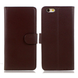 Wholesale Cheap Flip Phones Cases - Cheap PU Leather Wallet Case For iPhone 6 6S Flip Cover With Credit Card Holder Slot Kickstand Cell Phone Accessory Fundas