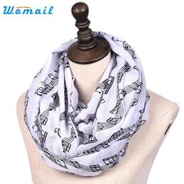Wholesale Bali Yarn - Wholesale- Womail Good Deal New Fashion Women Lady Shawl Musical Note Printing Long Soft Bali yarn scarf Scarves Gift 1PC