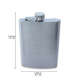 Wholesale 8oz Hip Flasks - 8OZ stainless steel hip flask with screw cap flask pocket Party Travel Outdoor Drink Hip Flask