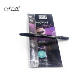 Wholesale Eye Kajal - Wholesale- New cosmetic waterproof & permanent black kajal eye pencil super gliding eyeliner Long-lasting Liquid Eye Liner Pen Makeup Tool
