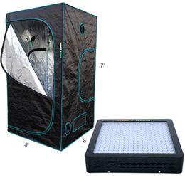 Wholesale Growing Room - Mars Hydro 1200 LED Grow Light Full Spectrum +1680D120x120x200cm grow tent Box,black grow Room