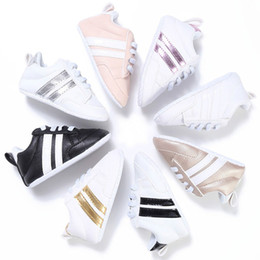 Wholesale baby ties - New Fashion Sneakers Newborn Baby Crib Shoes Boys Girls Infant Toddler Soft Sole First Walkers Baby Shoes