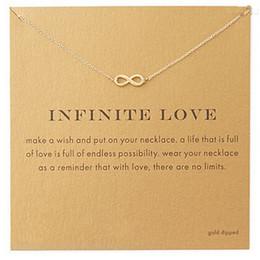 2019 placas de amor Atacado-Novo Estilo Infinito-Love banhado a ouro Pingente de colar Declaração de Moda Colar de Correntes Clavícula Para As Mulheres de Jóias com cartão desconto placas de amor
