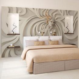 Wholesale Custom Wallpaper Designs - Custom Relief sculpture beautiful woman Photo Wall paper 3D Mural Wallpaper Art Design Bedroom Office Living Room home decoring
