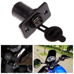 2019 12v usb mount Wholesale- Waterproof Dual USB Charger 12V/24V Motorcycle Cigarette Lighter Socket Motorcycle Scooter Handle Bar Mounted Charger дешево 12v usb mount