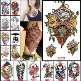 Wholesale men body painting - Wholesale- 1 pc 19x12cm Waterproof Transfer Body Paint Men Tattoo Body Art Color Heartbeat Fish Skull Owl Tattoo Arm Women Removal NCHLOT2