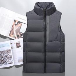 Wholesale Vest Winter Jacket Men - hot sell men's down vest winter vest men's outerwear men warm coat jacket 90% duck down face vest 750