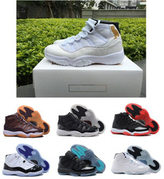 Wholesale Top High Cut Basketball Shoes - New high top 11s 11 OVO Citrus 72-10 space jams white Olympic Concord Gamma Blue Varsity Red Navy Gum men's basketball shoes