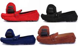 Canada Livraison Gratuite Hommes Appartements Occasionnels Marque De Mode Designer Véritable Mocassins En Cuir Mâle D'affaires Richelieus Robe Chaussures Taille 40-47 cheap men s loafers Offre
