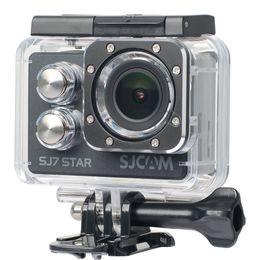 Wholesale Head For Camera - Wholesale- Original SJCAM SJ7 Star Waterproof Case Underwater 30M Dive Housing Case Camcorder for SJCAM SJ7 Camera