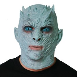 canada scary halloween zombie mask game of thrones night king latex mask scary halloween costumes facny