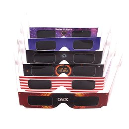 Wholesale Discovery Kids Toys - USA Solar Eclipse Glasses Viewer Safe Eyes Protector August 21th Viewing Children Kids Adult Science Discovery Tools HH-P09