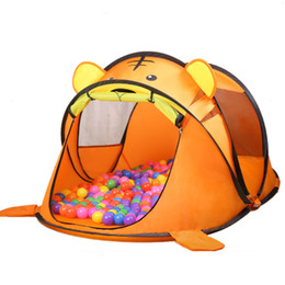 Wholesale Indoor Pool Games - Wholesale- Indoor outdoor camping catoon animal tiger dog House tent Ocean ball pool child park picnic holiday game play tent baby toy gift