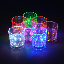 Wholesale Mini Decorative Cups - Large in stock high quality Mini LED Flashing Plastic Beverage Wine Cup Bar Parties Club Decorative Mug