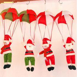 Wholesale Christmas Decoration Hanging Santa - Christmas Decorations Hanging Christmas Decorations Parachute Santa Claus Snowman Ornaments For Christmas Indoor Decorations Xmas Gift