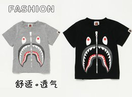 Wholesale Kids Summer Outfits For Boys - Summer Fashion Shark Baby Milo T Shirt Family Matching Dress Clothes Outfits For Dad Mom Son Daughter Women Men Kids Boys Girls