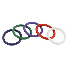 Wholesale silicone rubber for sex toys - Wholesale- 5 Colors Rainbow Rubber Cock Ring Sex Toy Silicone Penis Delay Ring 5pcs Sex Products For Man