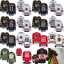 Wholesale Custom Cotton Shirts - Mens Chicago Blackhawks Andrew Desjardins Artem Anisimov Marcus Kruger Jordin Tootoo Custom Jersey Red Black White Camo Hockey Jerseys shirt