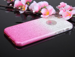 Wholesale Iphone 4s Case Silicone Glitter - For iPhone X 8 7 Plus 6S 5SE 4S TPU Plastic Hybrid Shining Bling Glitter Case Protective Soft Cover 3 Layers Opp Bag
