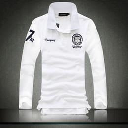 Camisetas de moda coreana online-Camiseta polo de los nuevos hombres de la ciudad de Fashion City Versión coreana de la camiseta de manga larga británica casual de solapa masculina